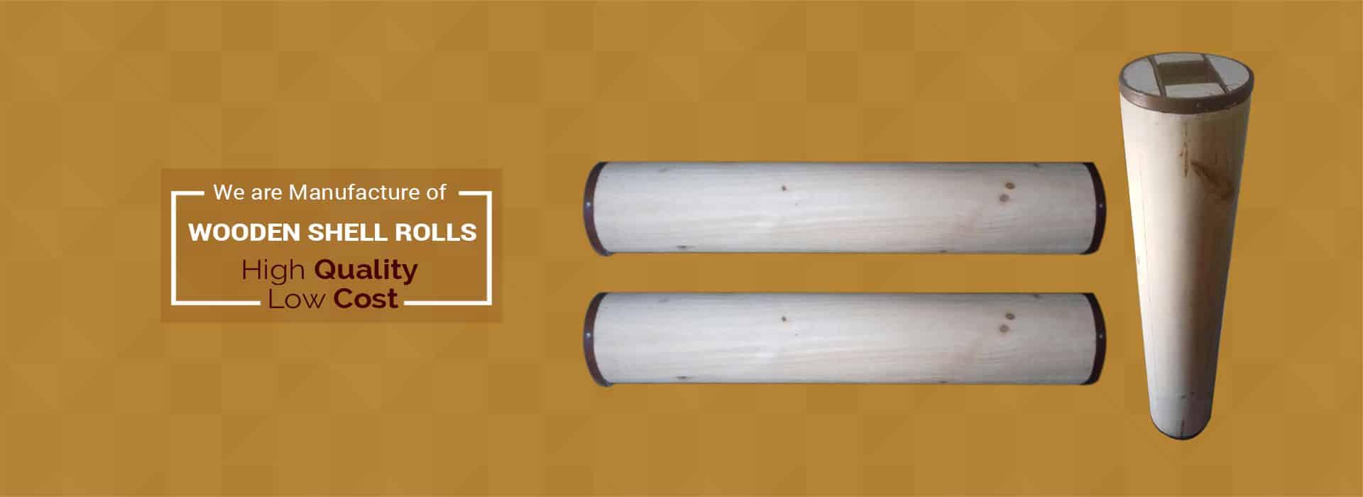 Wooden Shell Rolls, Industrial Wooden Pallets